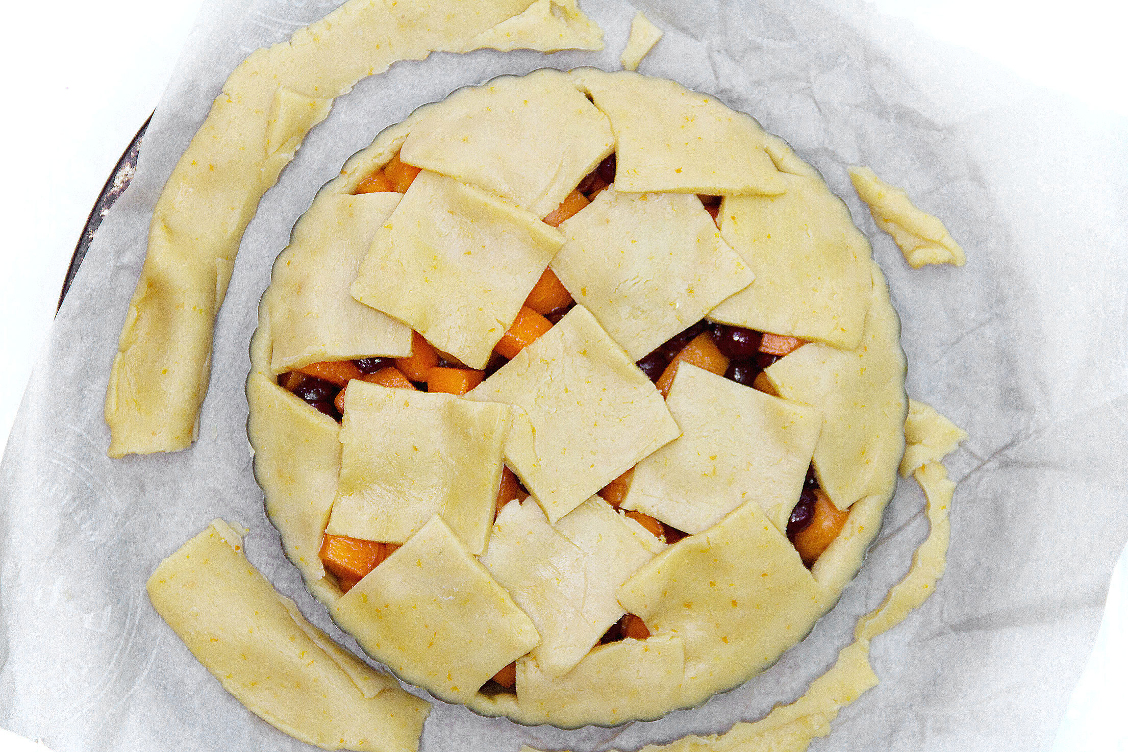 Sour Cherry and Apricot Tart