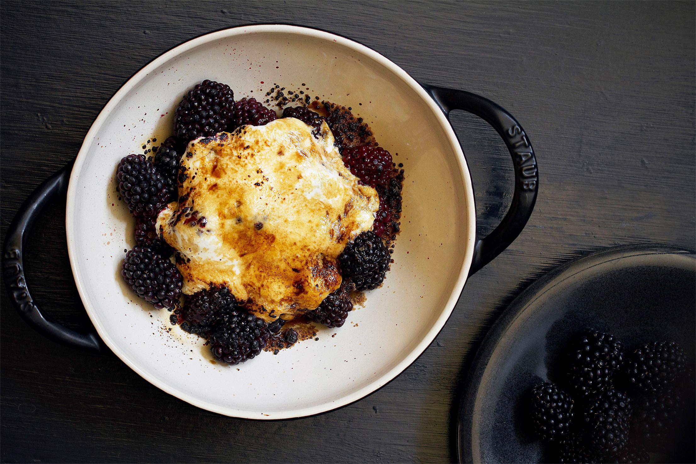 Broiled Blackberries from the Bijouxs Garden