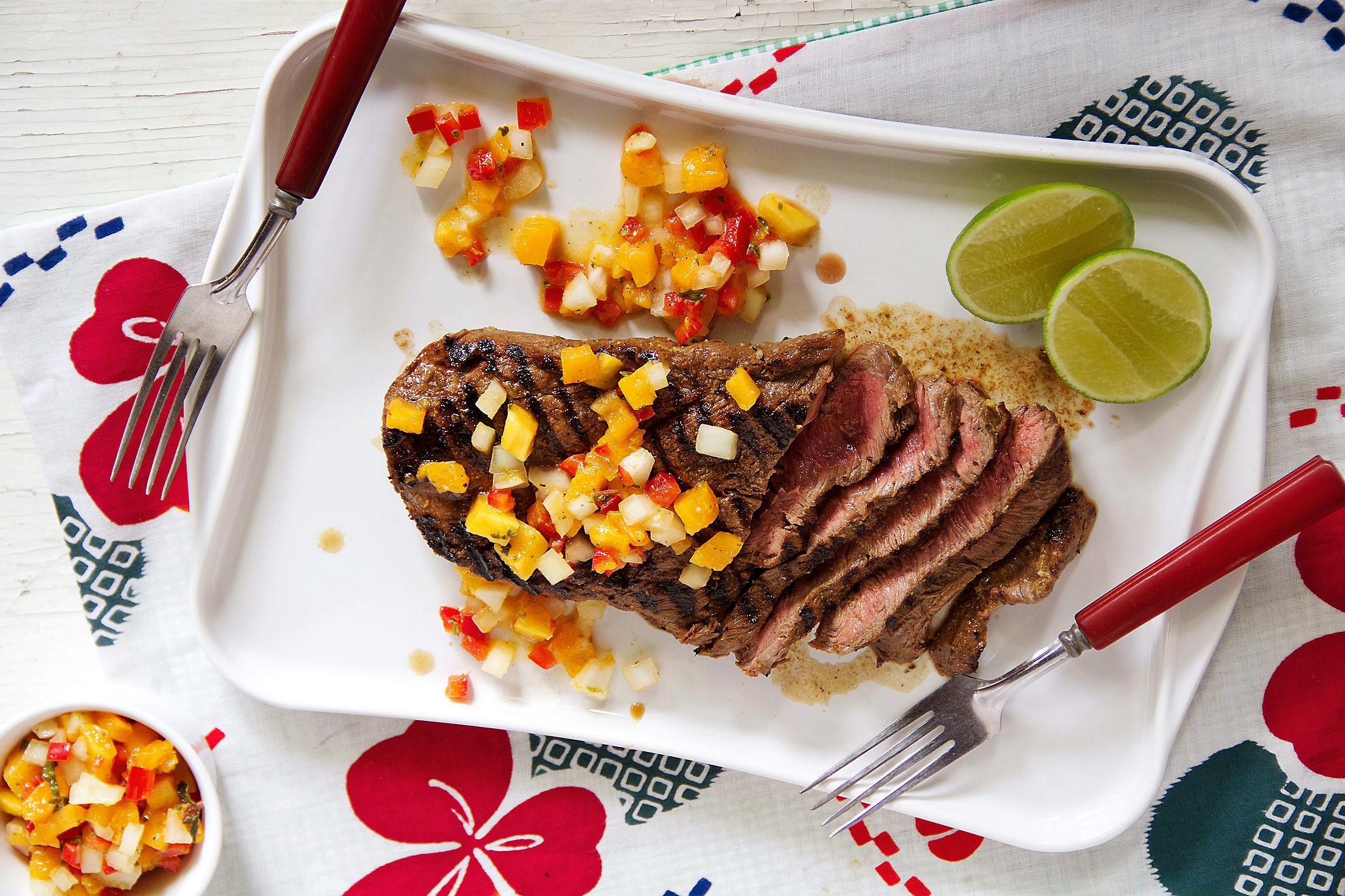 Grilled Steak and Papaya