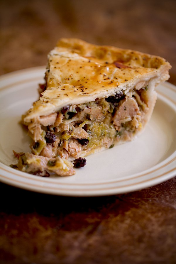 Chicken and Leek Pie with Currants and Balsamic