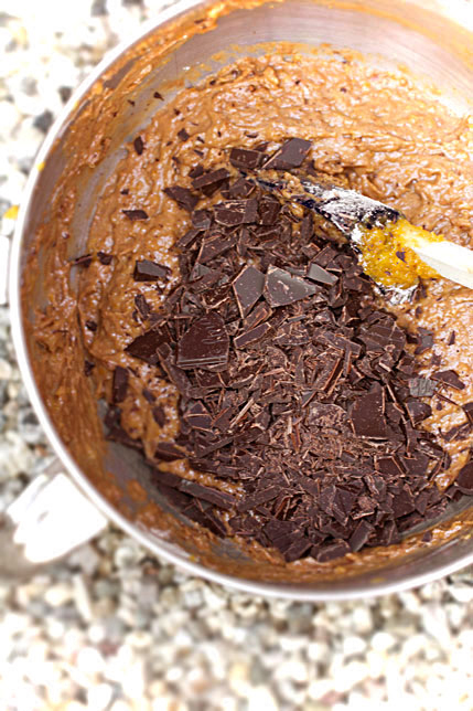 Chocolate-Apricot Cake Batter