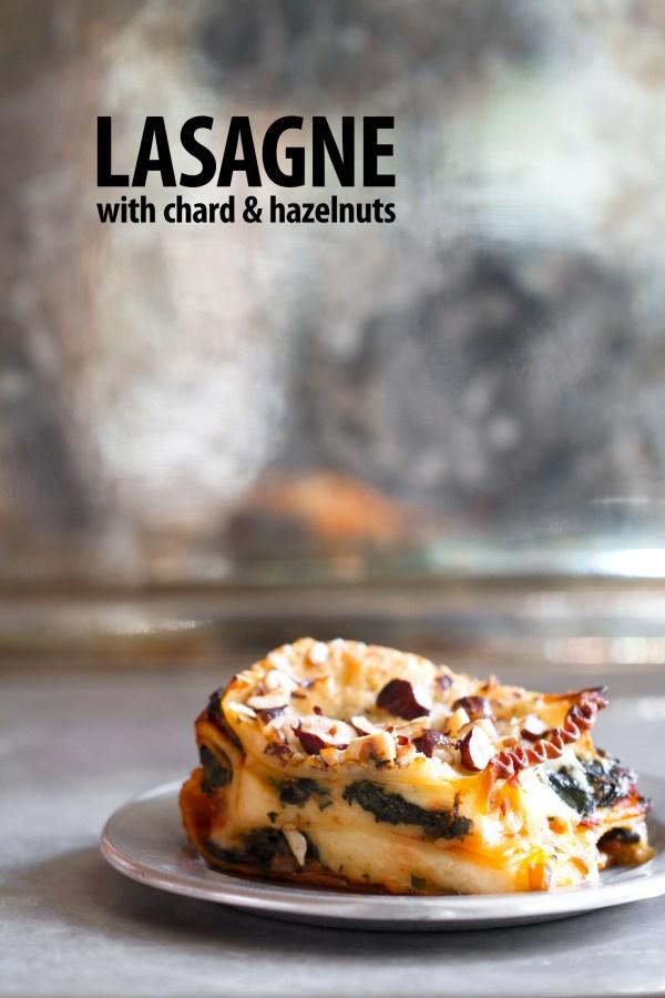 Swiss Chard Lasagne with Bechemel and Hazelnuts
