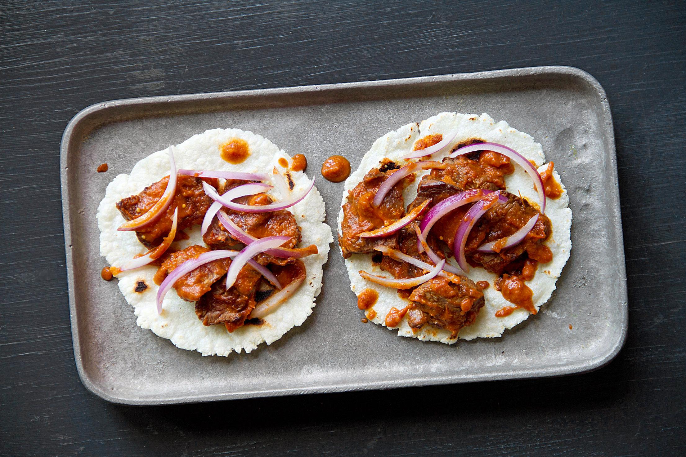 Wes Avila's Chile Colorado Tacos