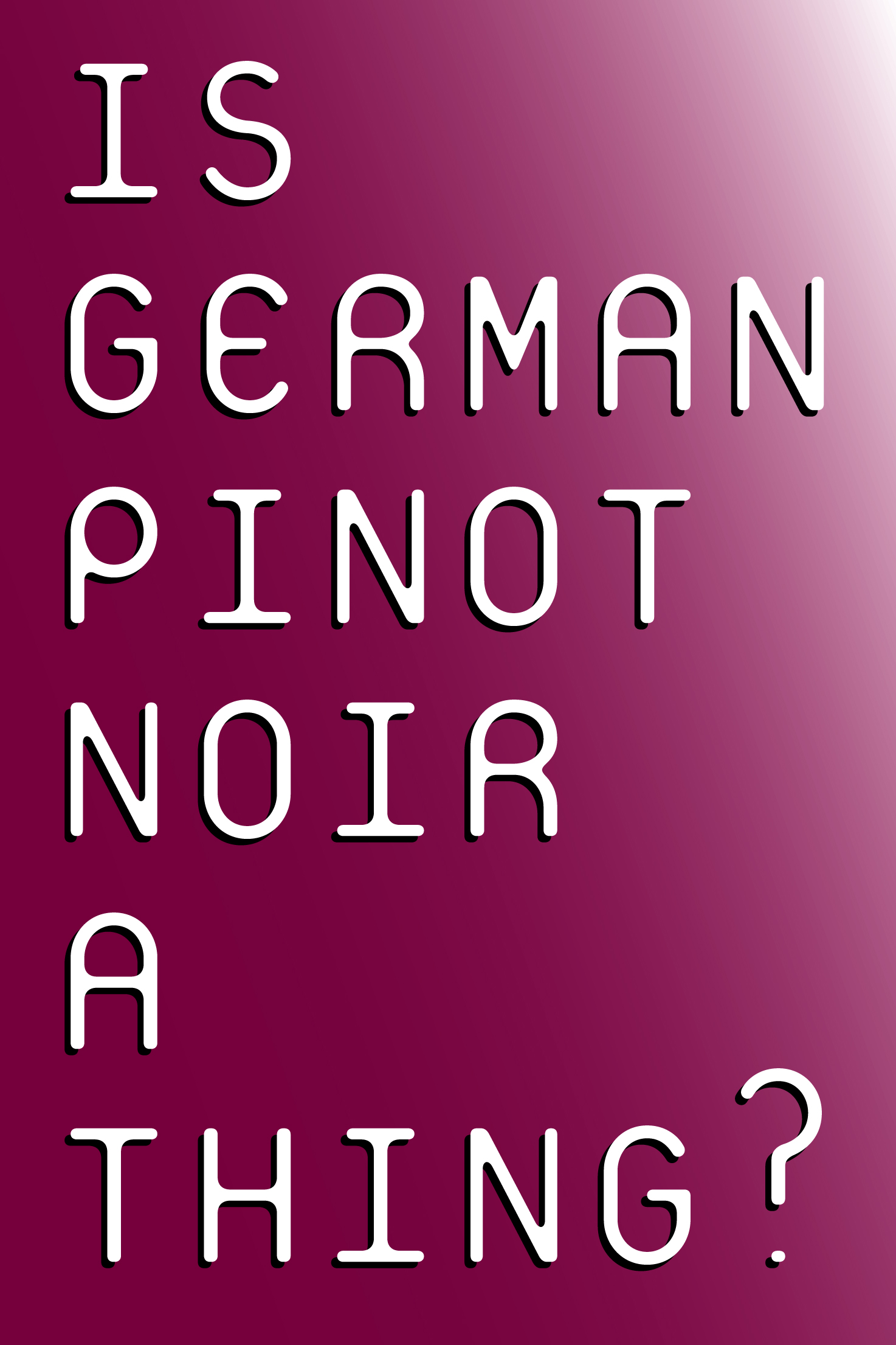 Austrian and German Pinot Noir Tasting