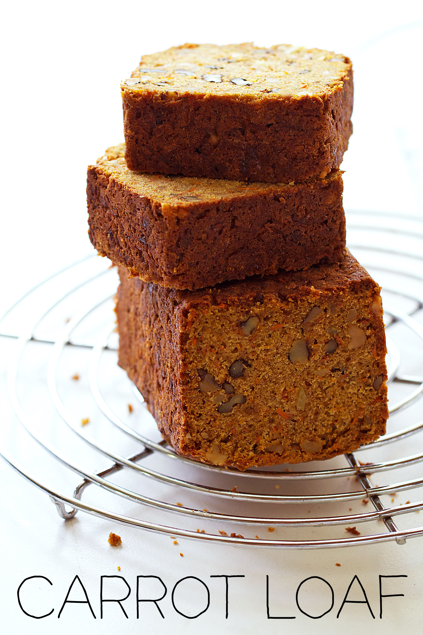 Carrot Loaf with Walnuts and Crystallized Ginger