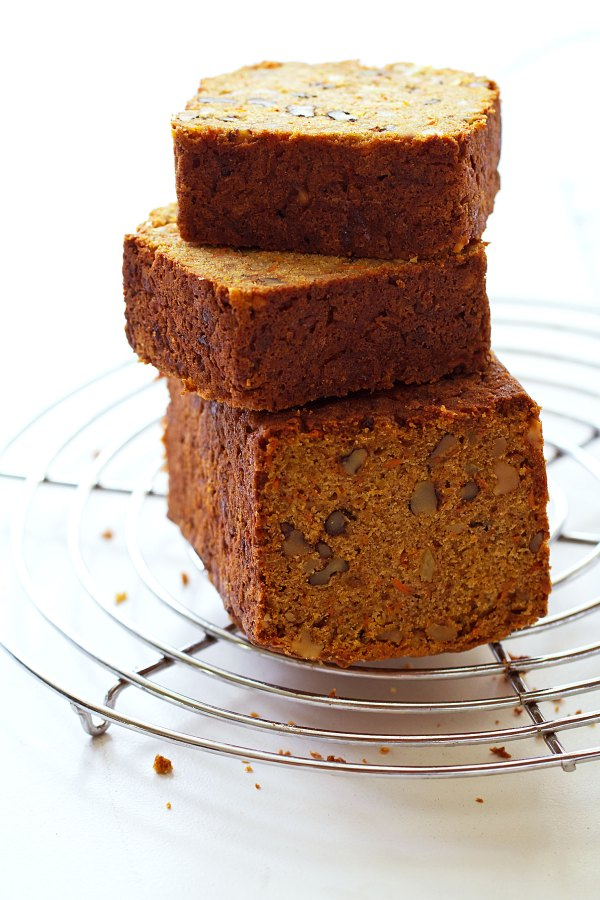 Toasted Carrot Loaf with Walnuts and Crystallized Ginger