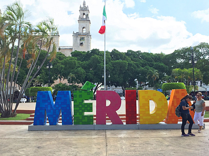 Merida Mexico Sign