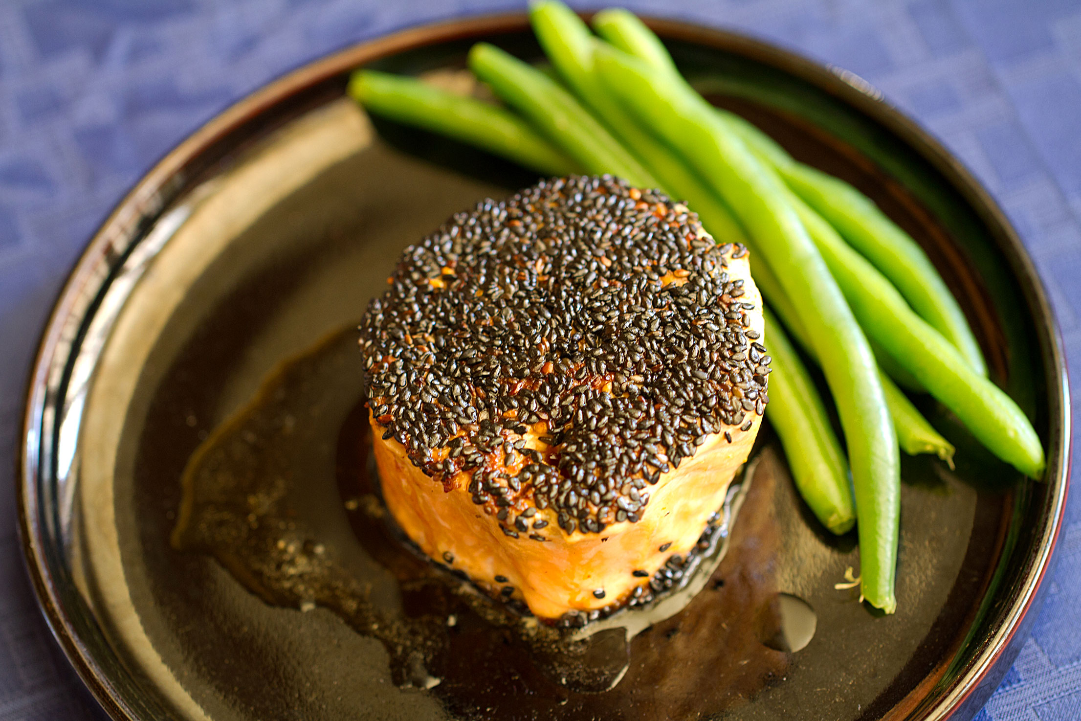 Sesame Salmon Roll in Memory of My Father