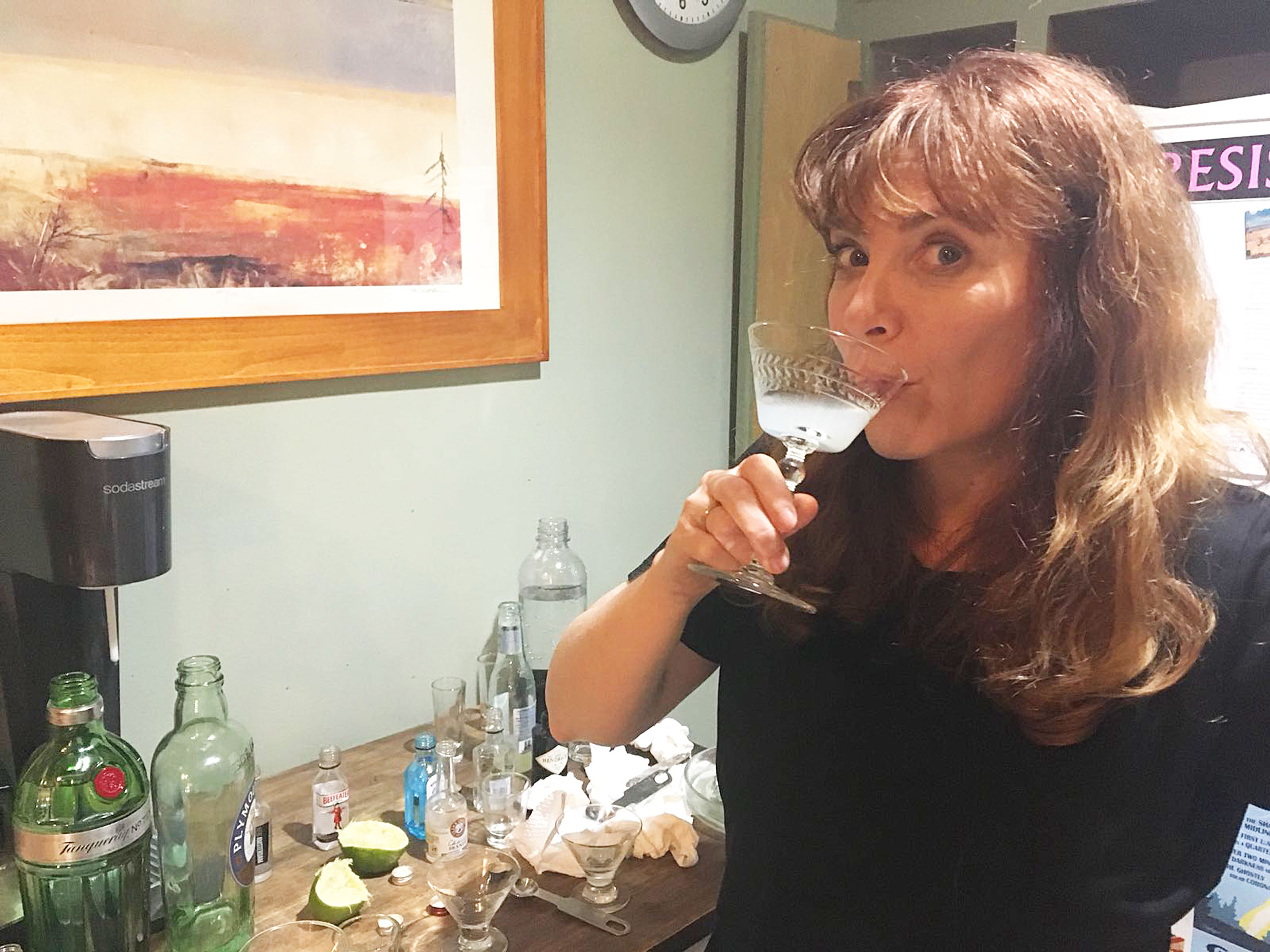 Helen Melville tastes gin for Sippity Sup