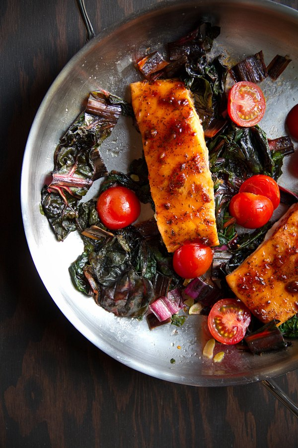 Slow-Roasted Salmon with BBQ Sauce