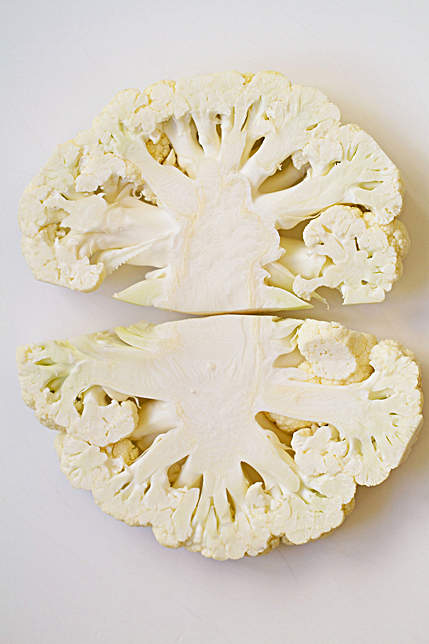 cauliflower steak slices
