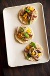 Onion-Mint Relish on Tacos