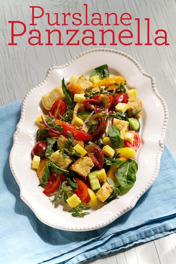 Purslane Panzanella Salad Italian Bread Salad Sippitysup
