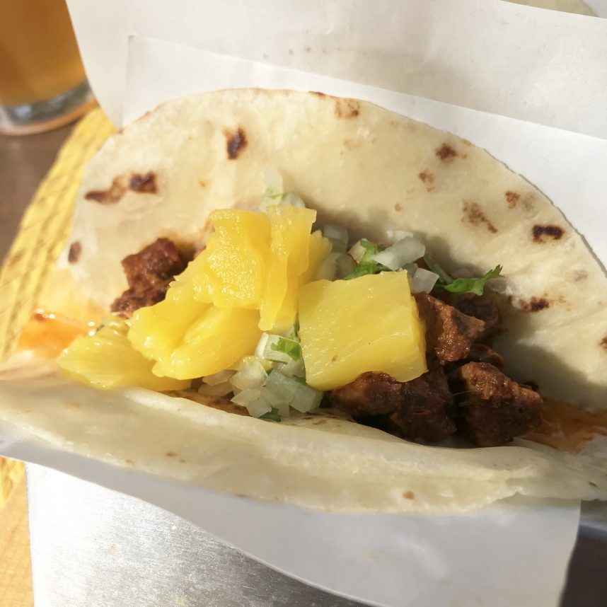 Al Pastor Taco from Zopilote Brewing in Loreto, Mexico