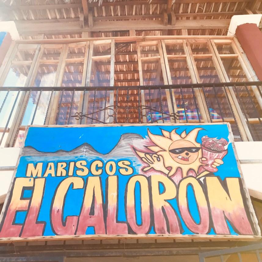 Upstair Terrace view of Mariscos el Caloron in Loreto, Mexico