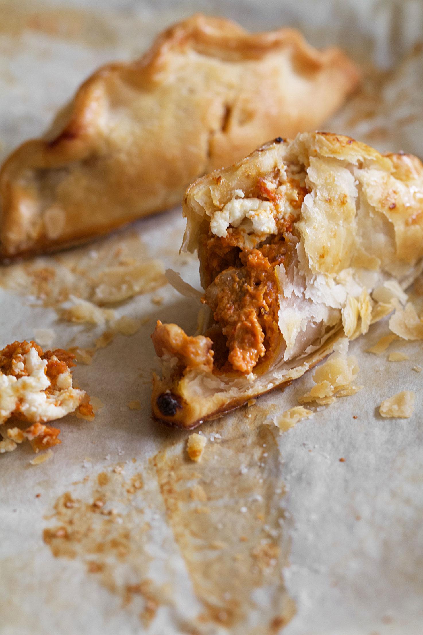 Carrot Muhammara Hand Pies
