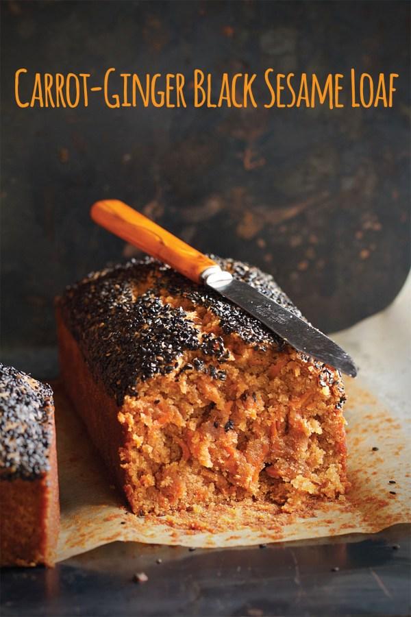 Vegan Carrot-Ginger Black Sesame Loaf