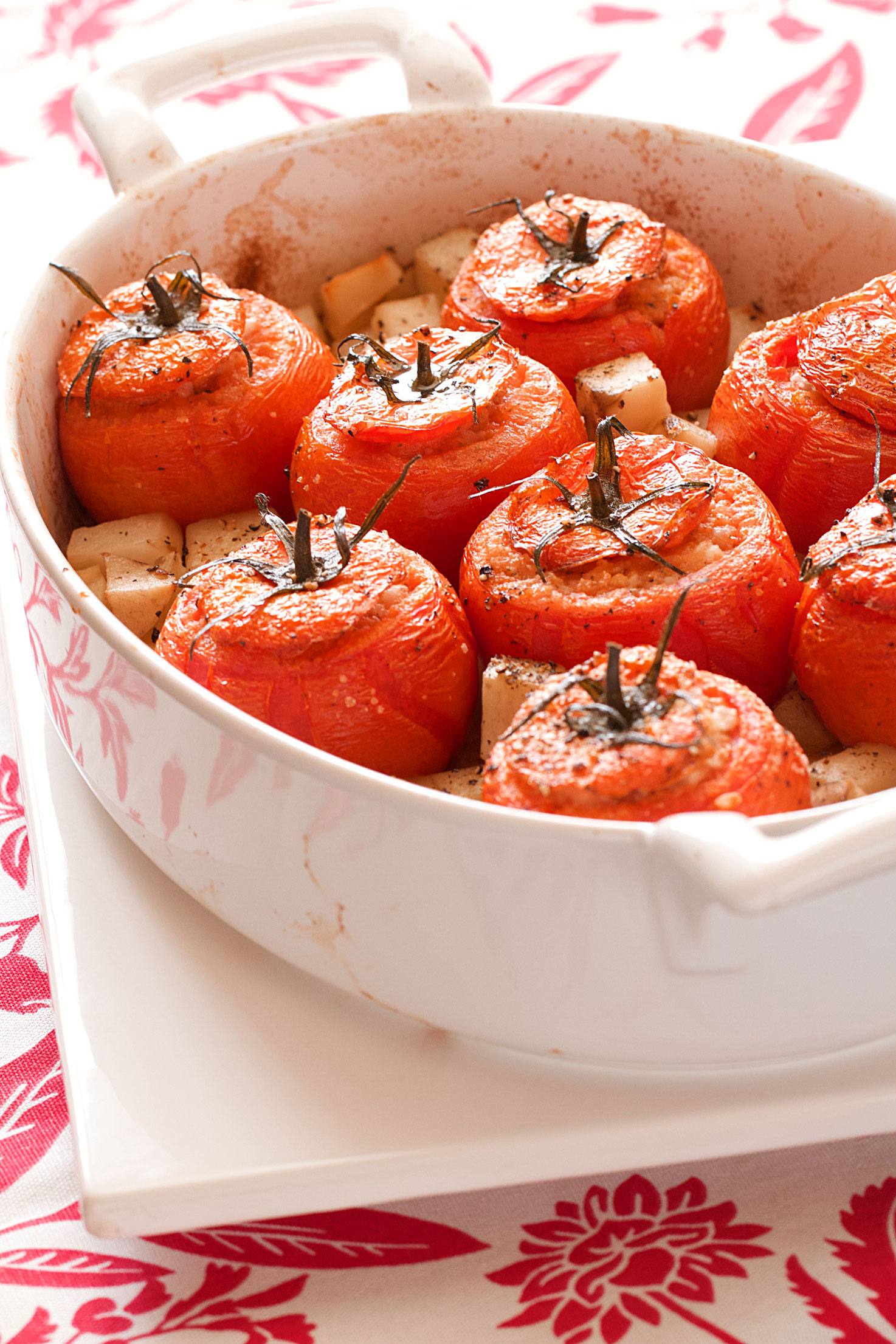 Baked Tomatoes Stuffed with Rice (Roman Style)