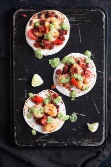 Chorizo and Shrimp Tacos