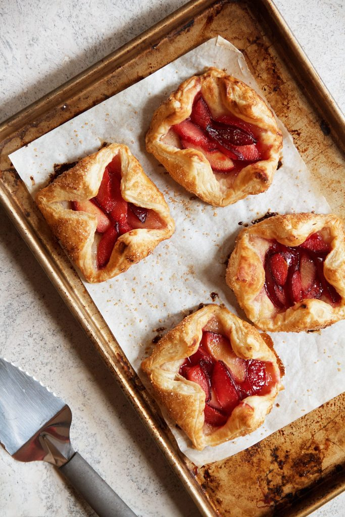 Plum and Cardamom Puff Pastry Tart