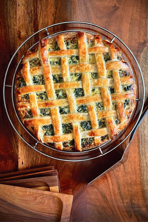 Ricotta Pie with Spinach, Kale, and Mustard Greens
