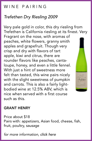 Trefethen wine pairing from Sippty Sup
