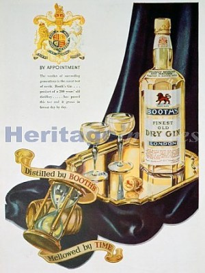 Booth's gin ad