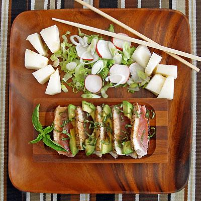seared albacore salad