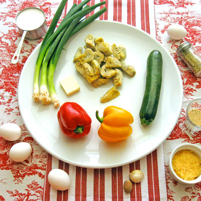 artichoke clafouti ingredients