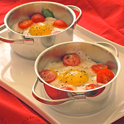 baked eggs and yogurt