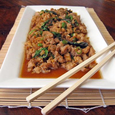 Spicy Thai Basil Chicken (Gkai Pad Gkaprow)