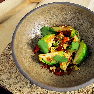 Brussels Sprouts and Chorizo