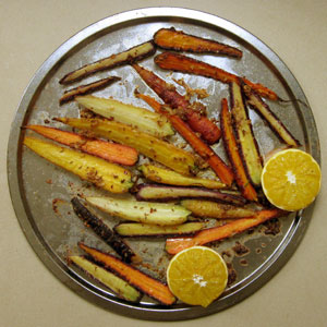 roast heirloom carrots
