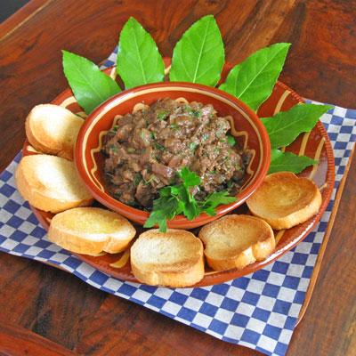 chicken liver spread Italian style