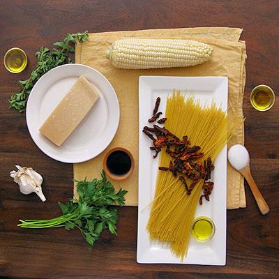 Corn Pasta Mis en Place