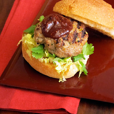 duck burger with fig ketchup