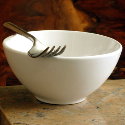 empty bowl with fork