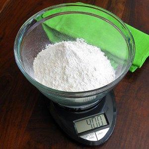 flour on scale