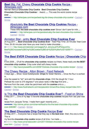 google cookies search