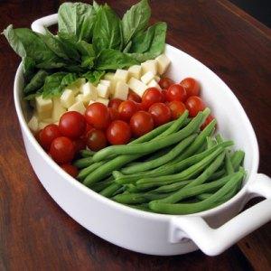 basil green bean gratinate ingredients