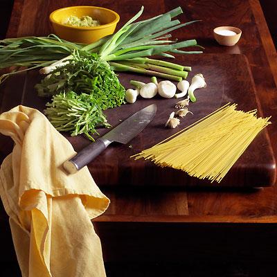 Green Garlic and Spring Onion Pesto Ingredients