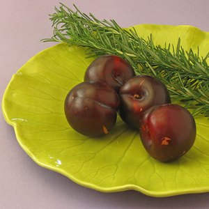 plums and rosemary