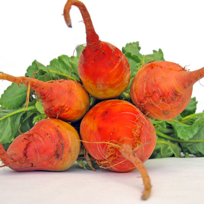 a bunch of golden beets