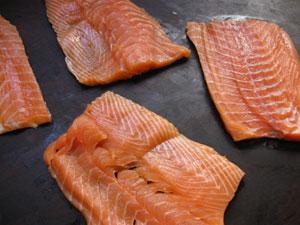 salmon scallapini type slices