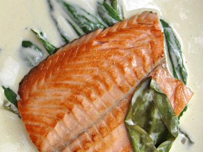 salmon troisgros closeup