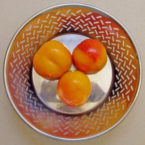 blanched and peeled peaches