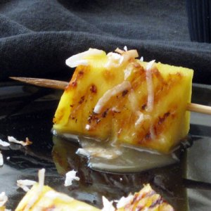 grilled pineapple satay