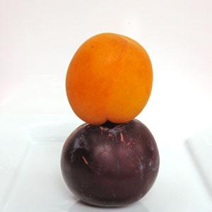 stacked stone fruit