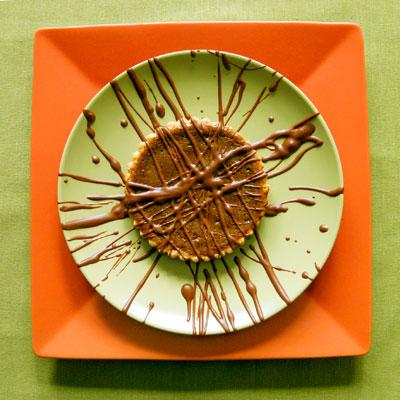 pumpkin and chocolate tart