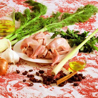 ingredients for quail escabeche